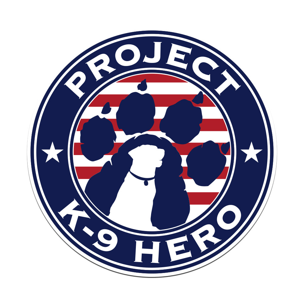 $5 Donation - Project K-9 Hero Logo Sticker