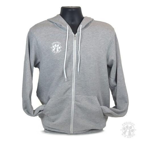 $50 Donation - Project K-9 Hero Unisex Logo Full-Zip Hoodie