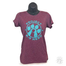 Load image into Gallery viewer, $35 Donation - Project K-9 Hero Women's Logo T-Shirt