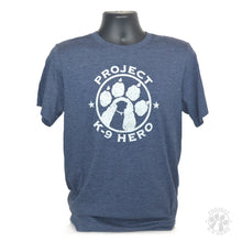 Load image into Gallery viewer, $35 Donation - Project K-9 Hero Logo T-Shirt