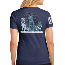 Load image into Gallery viewer, $35 Donation - Project K-9 Hero Trio Women's T-Shirt by Nine Line
