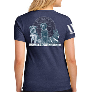 $35 Donation - Project K-9 Hero Trio Women's T-Shirt by Nine Line