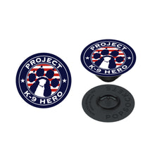 Load image into Gallery viewer, $20 Donation - Project K-9 Hero Logo PopSocket