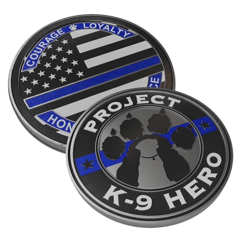 $15 Donation - Project K-9 Hero x Thin Blue Line USA Challenge Coin