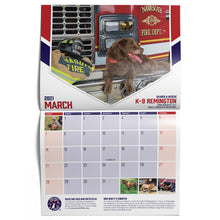 Load image into Gallery viewer, $25 Donation - Project K-9 Hero 2021 Calendar