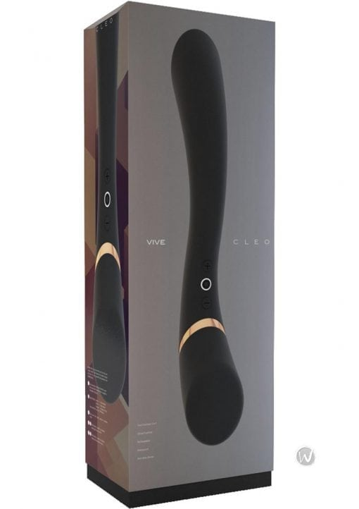 luving-my-fashions,Vive Cleo Silicone USB Rechargeable Dual End Vibrator Waterproof Black