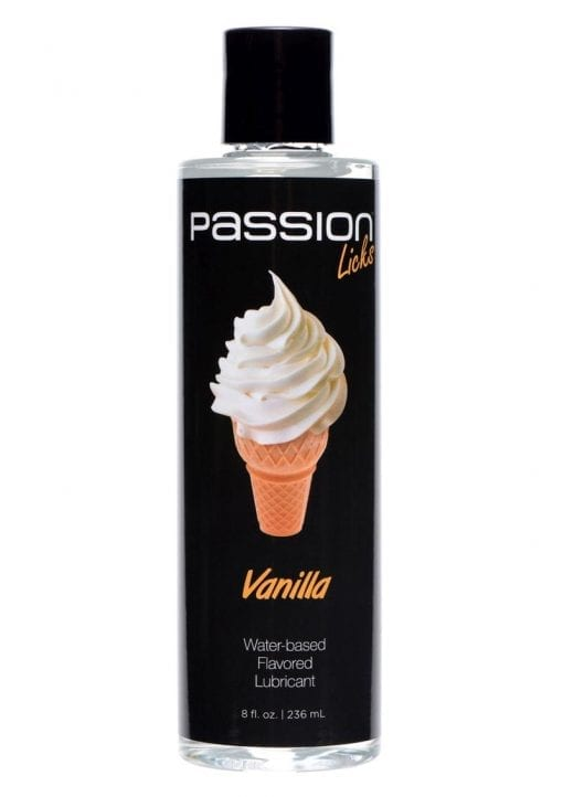 Passion Licks Water Based Flavored Lubricant Vanilla