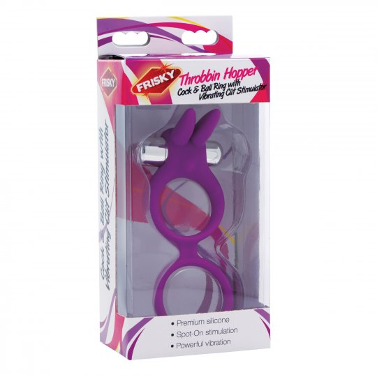 luving-my-fashions,Throbbin Hopper Cock and Ball Ring with Vibrating Clit Stimulator
