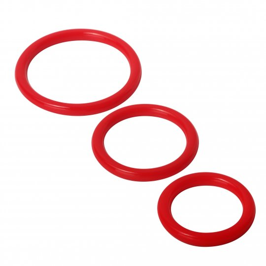 luving-my-fashions,Trinity Silicone Cock Rings Red