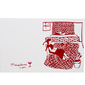 Screenprinted Greeting Card: By The Fire