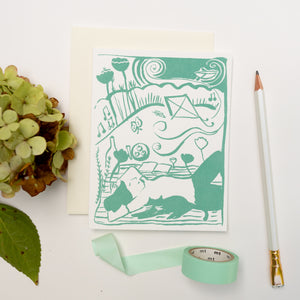 Screenprinted Greeting Card: Daydream