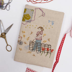 Embroidered Notebook Cover + Sketchbook