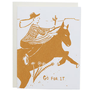Screenprinted Greeting Card: Go For It