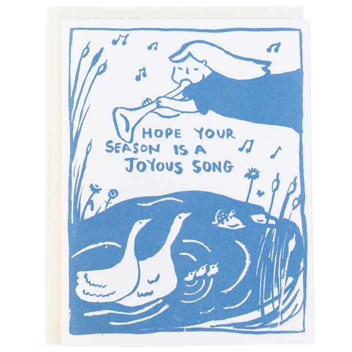 Screenprinted Greeting Card Holiday: Joyous Song