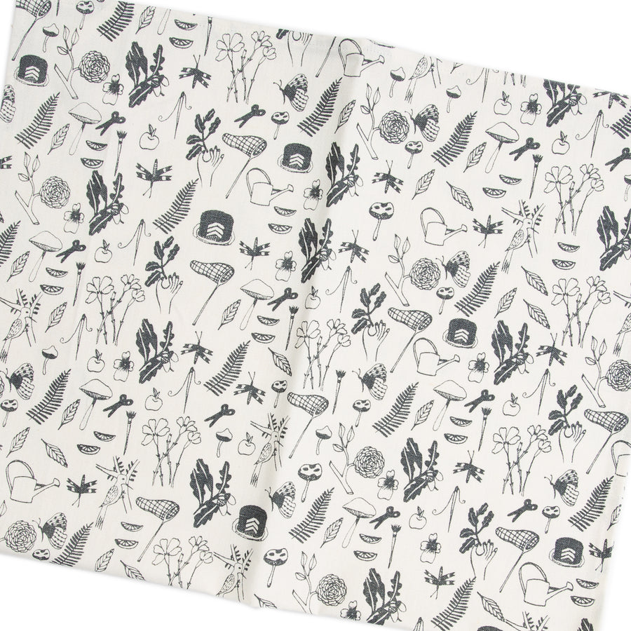 Tea Towel: Midsummer in Charcoal