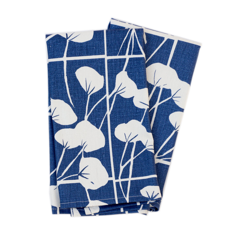 Napkin Set: Cotton in Indigo