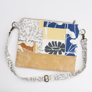 Meg Crossbody in Blue Patchwork