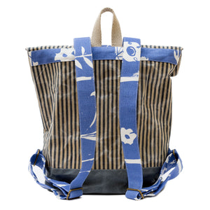 Range Backpack: Matilda and Stripey Wax Canvas