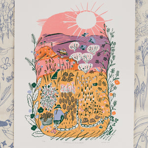 Screen Print - And Blooming Will Be My Delight