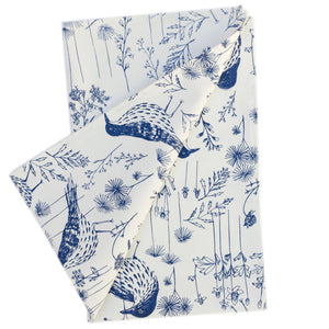 Tea Towel: Brown Thrasher in Indigo