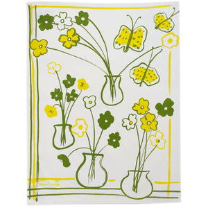 Tea Towel: Butterfly in Lime