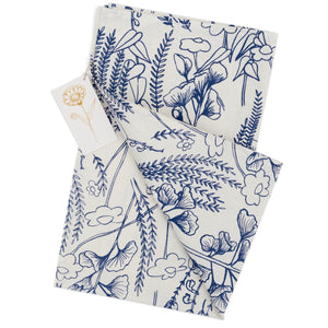 Tea Towel: Ginkgo in Indigo