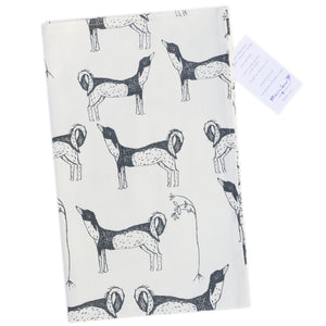 Tea Towel: Dogs in Charcoal