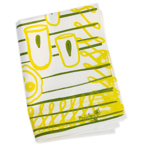 Tea Towel: Snack Table in Lime