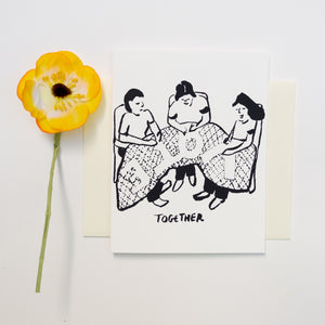 Screenprinted Greeting Card: VOTE