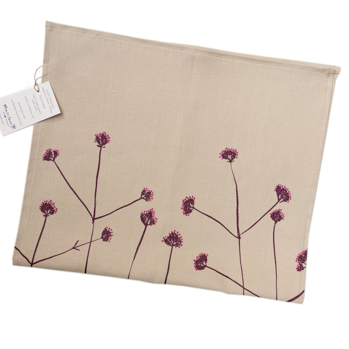 Tea Towel: Verbena in Muscadine