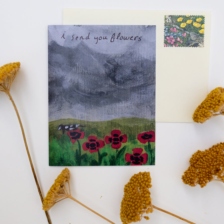 Greeting Card - I Send You Flowers