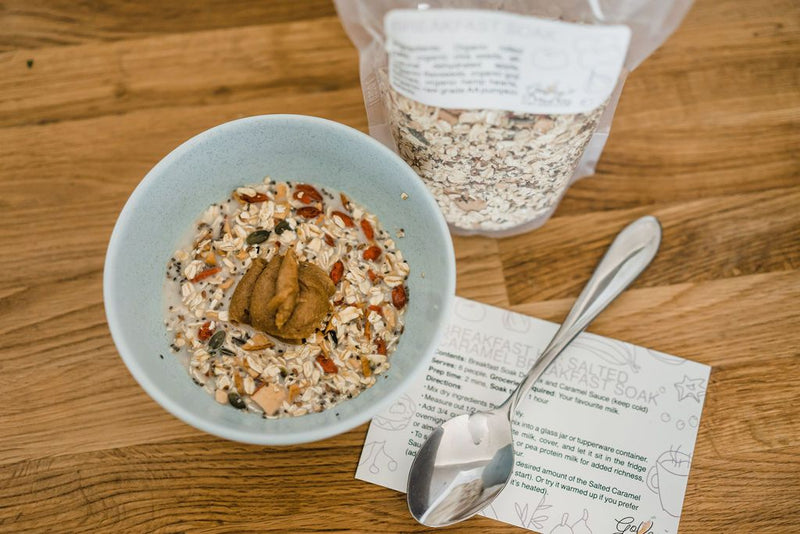 SALTED CARAMEL BREAKFAST SOAK KIT - Go Veg Meal Kits