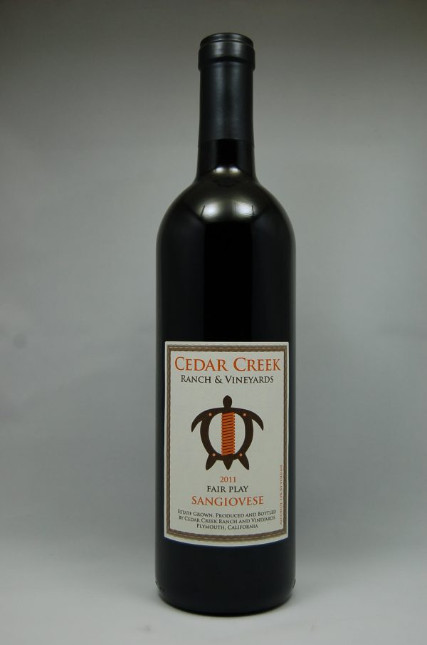 2012 Sangiovese-100% Estate Grown - Cedar Creek Ranch & Vineyards