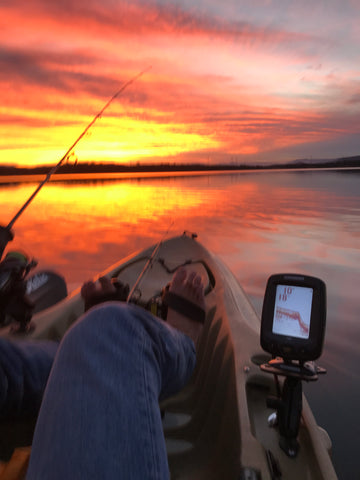 The serenity of a sunset, fish become a bonus, Skulldrag Industries