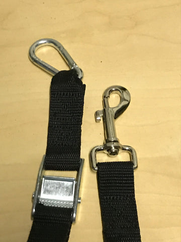 TraySafe Single Safety Harness/Cambuckle/316 Stainless - Skulldrag Industries