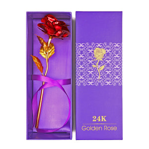 24K Gold Plated Romantic Rose Flower Decoration - FashionDone