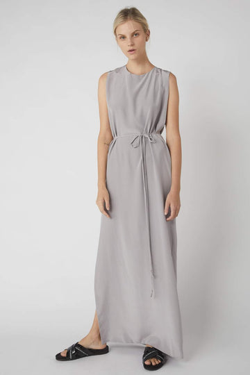 Deconstructed Collapse Back Full Dress / Dove Grey