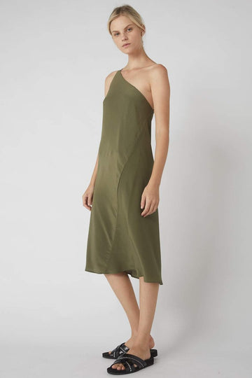Exclusive One-Symmetrical Dress / Olive
