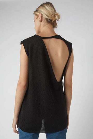 Collapse Back Metallic Tank / Black