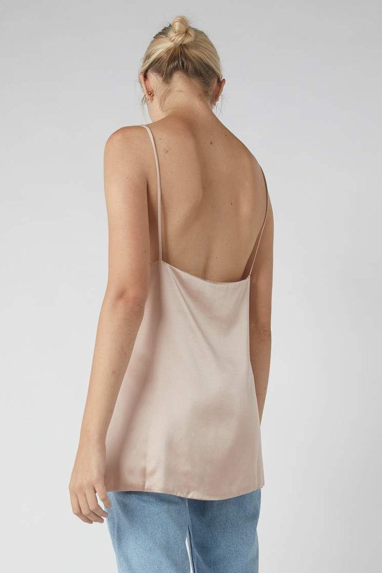 Duo Side Split Cami / Millennial Pink