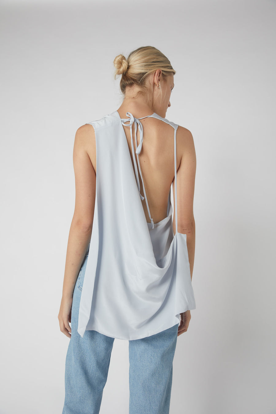 Deconstructed Collapse Back Cami / Powder Blue