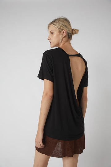Full Collapse Back Tee / Black