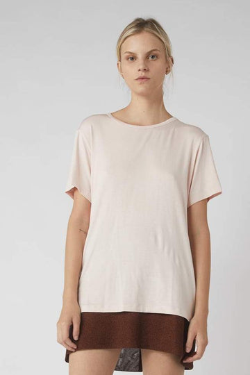 Full Collapse Back Tee / Powder Pink