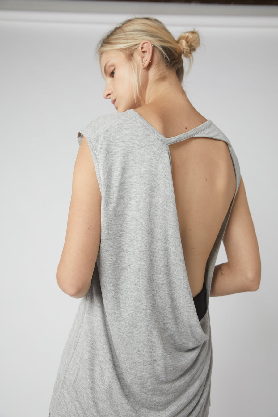 Full Collapse Back Jersey Tank / Grey Marle