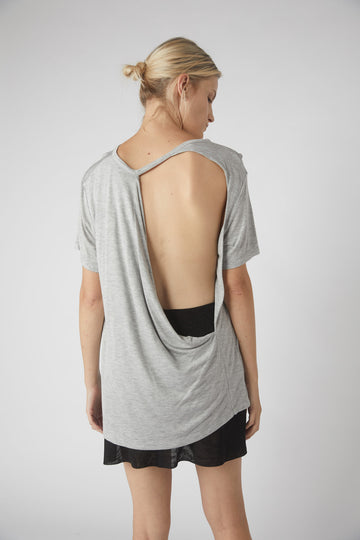 Full Collapse Back Tee / Grey Marle