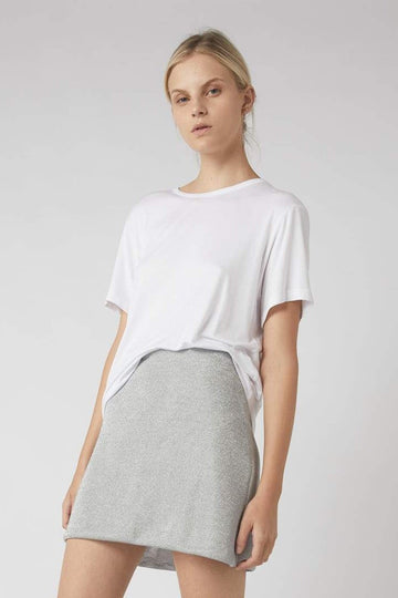 Contour Metallic Mini Skirt / Silver