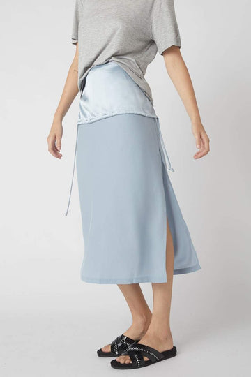 Duality Midi Skirt / Powder Blue