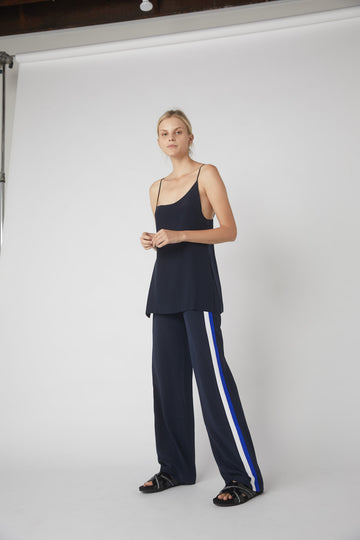 Double Pleat Fluid Lounge Pant / INK