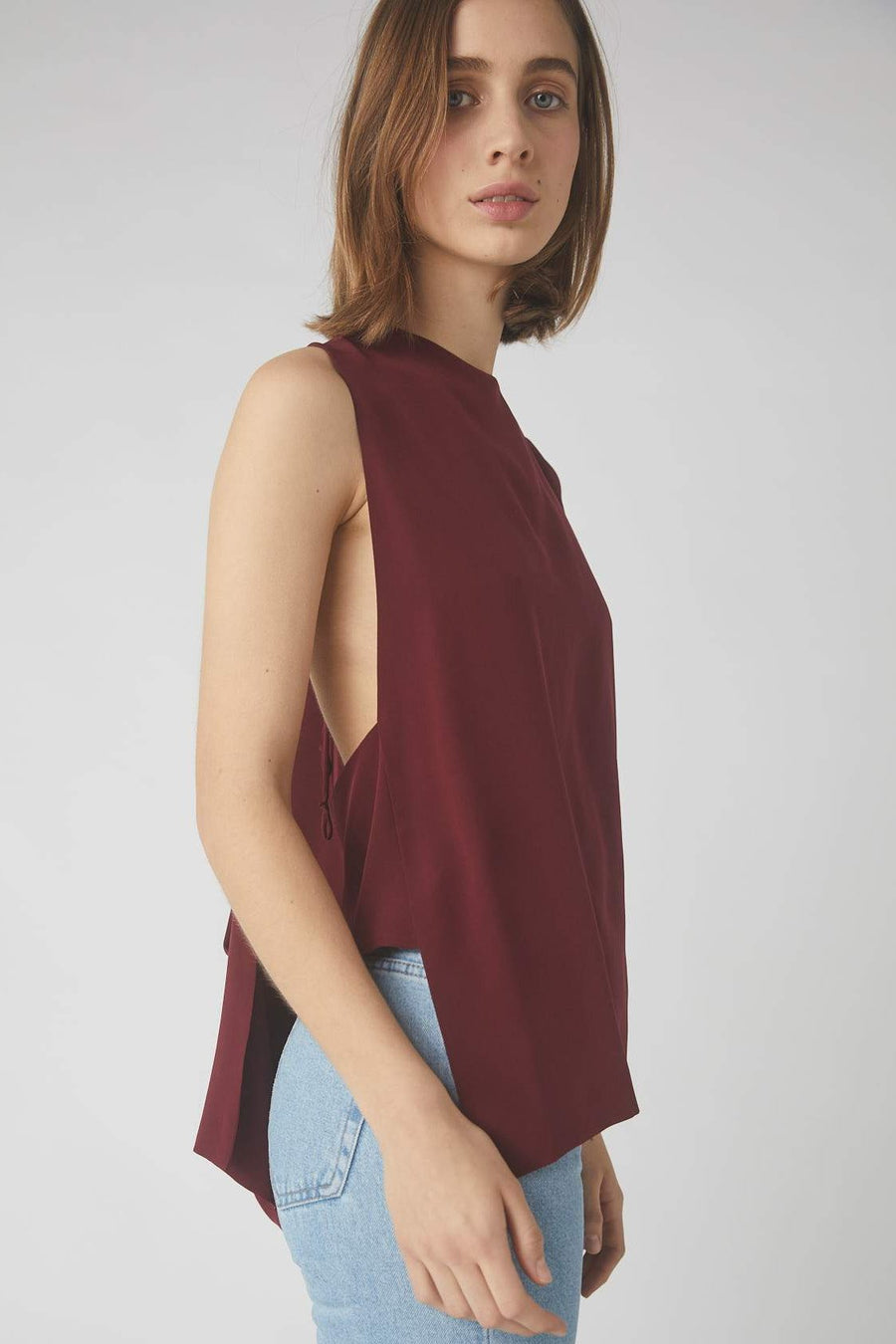 Deconstructed Collapse Back Cami / Merlot