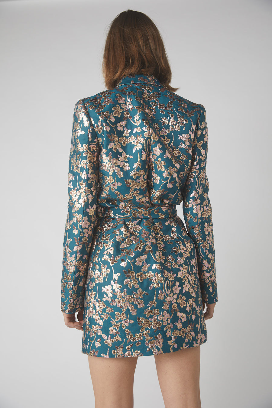 Bloom Wrap Jacket Dress / Teal